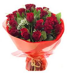 Konya internetten çiçek satışı  11 adet kimizi gülün ihtisami buket modeli