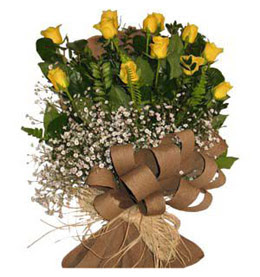 Konya çiçek servisi , çiçekçi adresleri  9 adet sari gül buketi