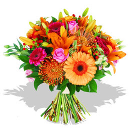 Konya kaliteli taze ve ucuz çiçekler  Karisik kir çiçeklerinden görsel demet