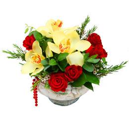 Konya çiçek mağazası , çiçekçi adresleri  1 adet orkide 5 adet gül cam yada mikada