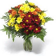 Konya çiçek gönderme sitemiz güvenlidir  Karisik çiçeklerden mevsim vazosu