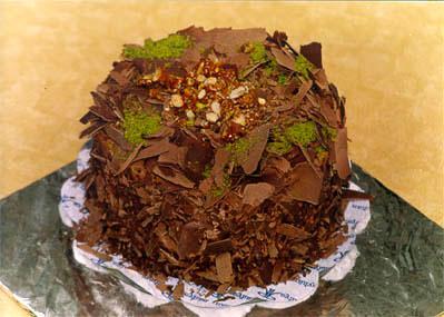 Çikolatali 4 ila 6 kisilik yas pasta  Konya çiçek online çiçek siparişi