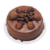 Kestaneli çikolatali yas pasta  Konya yurtiçi ve yurtdışı çiçek siparişi