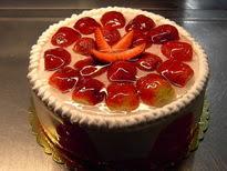 Meyvali yas pasta 4 ile 6 kisilik pasta  Konya çiçek gönderme sitemiz güvenlidir