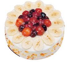 Meyvali 4 ile 6 kisilik yas pasta leziz  Konya online çiçekçi , çiçek siparişi
