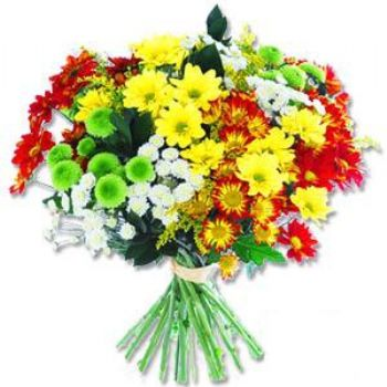 Kir çiçeklerinden buket modeli  Konya çiçek , çiçekçi , çiçekçilik
