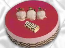 pasta siparisi 4 ile 6 kisilik yas pasta çilekli yaspasta  Konya çiçek siparişi vermek