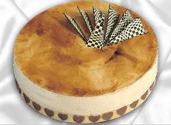 taze pasta 4 ile 6 kisilik yas pasta karamelli yaspasta  Konya çiçek gönderme