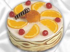 lezzetli pasta satisi 4 ile 6 kisilik yas pasta portakalli pasta  Konya İnternetten çiçek siparişi