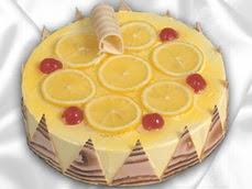 taze pastaci 4 ile 6 kisilik yas pasta limonlu yaspasta  Konya çiçek , çiçekçi , çiçekçilik