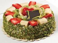 pasta gönder  4 ile 6 kisilik karisik meyvali yas pasta  Konya çiçekçi telefonları