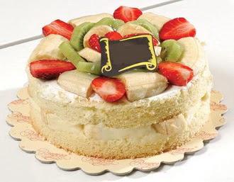 pasta siparisi 4 ile 6 kisilik karisik meyvali yas pasta  Konya çiçek siparişi vermek