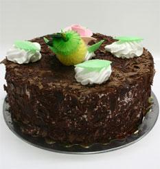 4 ile 6 kisilik yas pasta çikolatali leziz pastane ürünü  Konya hediye çiçek yolla
