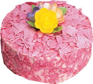 pasta siparisi 4 ile 6 kisilik framboazli yas pasta  Konya çiçek servisi , çiçekçi adresleri