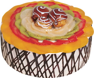 pasta siparisi 4 ile 6 kisilik meyvali yas pasta  Konya güvenli kaliteli hızlı çiçek