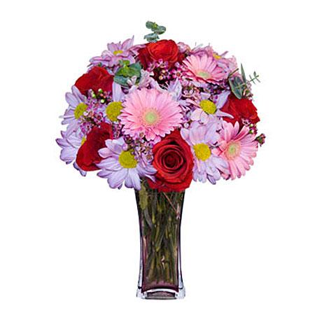 Görsel hediye karisik cam mevsim demeti  Konya İnternetten çiçek siparişi