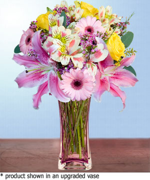 Anneme hediye karisik cam mevsim demeti  Konya çiçekçi telefonları