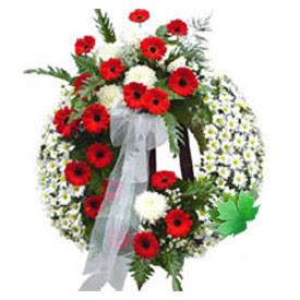 Cenaze çelengi cenaze çiçek modeli  Konya çiçekçi mağazası