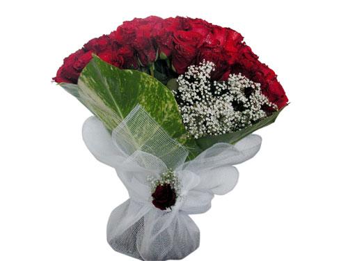 25 adet kirmizi gül görsel çiçek modeli  Konya çiçek siparişi vermek