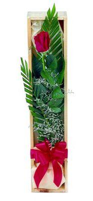 1 adet kutuda kirmizi gül  Konya çiçek online çiçek siparişi