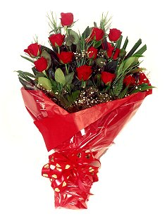 12 adet kirmizi gül buketi  Konya çiçek gönderme