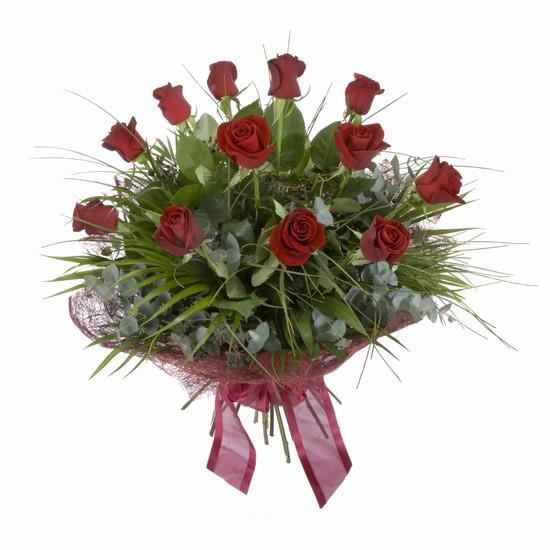 Etkileyici buket 11 adet kirmizi gül buketi  Konya çiçek yolla