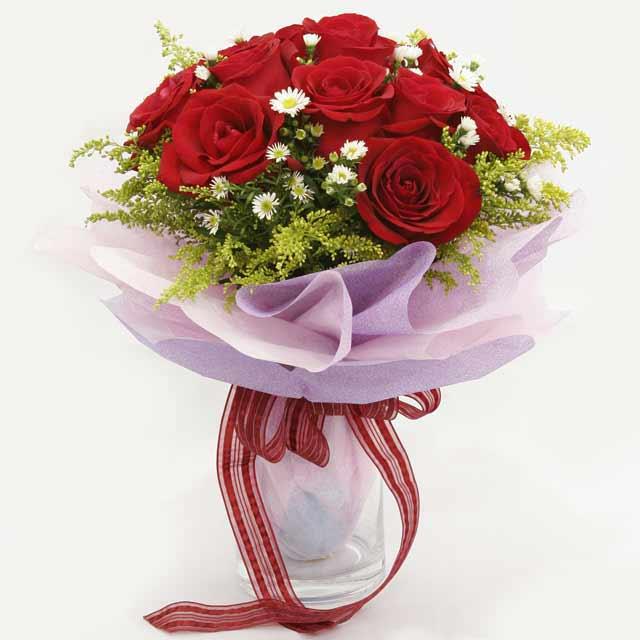 Çiçek gönderme estetikliginiz 11 gül buket  Konya İnternetten çiçek siparişi