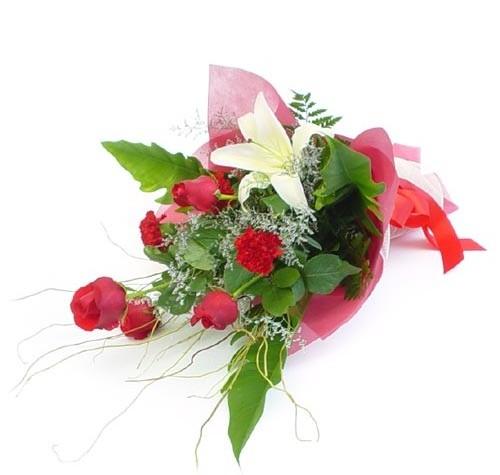 Mevsim çiçeklerinden karisik buket  Konya ucuz çiçek gönder