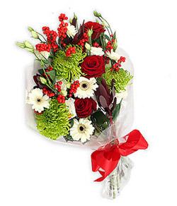 Karisik mevsim buketi çiçek tanzimi  Konya çiçekçi telefonları