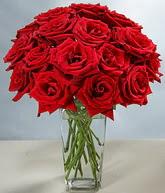 Konya İnternetten çiçek siparişi  cam vazoda 11 kirmizi gül  Konya çiçekçiler