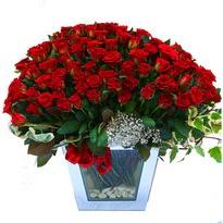Konya çiçek gönderme   101 adet kirmizi gül aranjmani