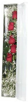 Konya çiçek gönderme sitemiz güvenlidir   5 adet gülden kutu güller