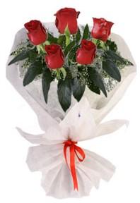5 adet kirmizi gül buketi  Konya çiçek gönderme