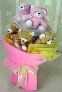 8 adet ayiciktan buket  Konya ucuz çiçek gönder
