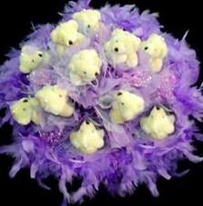 11 adet pelus ayicik buketi  Konya yurtiçi ve yurtdışı çiçek siparişi