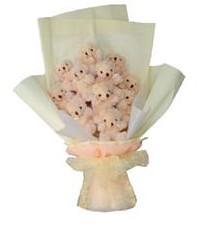 11 adet pelus ayicik buketi  Konya online çiçekçi , çiçek siparişi