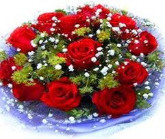 9 adet kirmizi güllerden buket  Konya kaliteli taze ve ucuz çiçekler