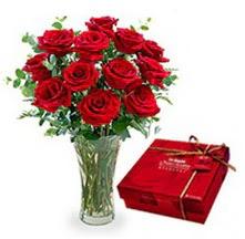 Konya İnternetten çiçek siparişi  10 adet cam yada mika vazoda gül çikolata