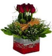 Konya çiçek mağazası , çiçekçi adresleri  7 adet mika yada cam vazoda gül tanzimi