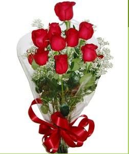 Konya çiçekçi mağazası  10 adet kırmızı gülden görsel buket