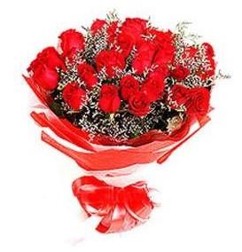 Konya online çiçek gönderme sipariş  12 adet kırmızı güllerden görsel buket