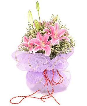3 dal kazablanka görsel buketi  Konya çiçek yolla