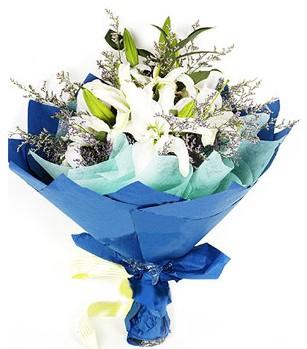 Konya internetten çiçek satışı  4 adet dal kazablankadan görsel buket