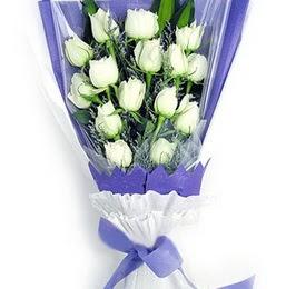 Konya İnternetten çiçek siparişi  11 adet beyaz gül buket modeli