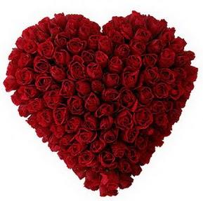 Konya İnternetten çiçek siparişi  muhteşem kırmızı güllerden kalp çiçeği