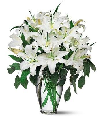 Konya çiçek yolla  4 dal kazablanka ile görsel vazo tanzimi