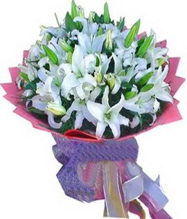 7 dal cazablanca görsel buketi  Konya İnternetten çiçek siparişi