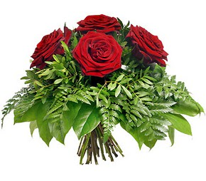 Konya online çiçek gönderme sipariş  5 adet kırmızı gülden buket
