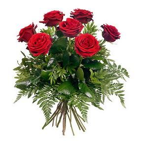Konya çiçek , çiçekçi , çiçekçilik  7 adet kırmızı gülden buket