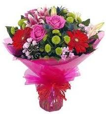 Karışık mevsim çiçekleri demeti  Konya çiçek , çiçekçi , çiçekçilik